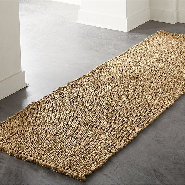 Leno Natural Handwoven Jute Runner 2.5'x8' - Image 1 of 3