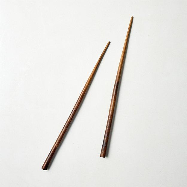 Leny Teak Chopsticks - Image 1 of 3