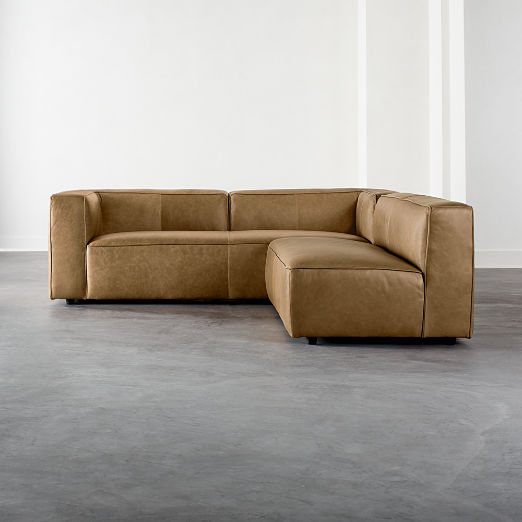 Lenyx Saddle 2-Piece Leather Sectional