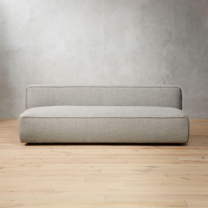 Lenyx Stone Armless Sofa