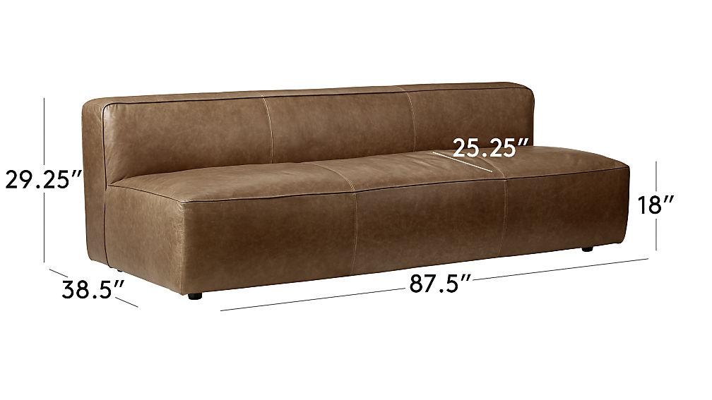 Lenyx Armless Leather Sofa