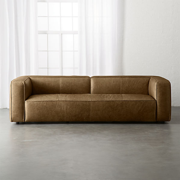 Lenyx Saddle Leather Extra Large Sofa