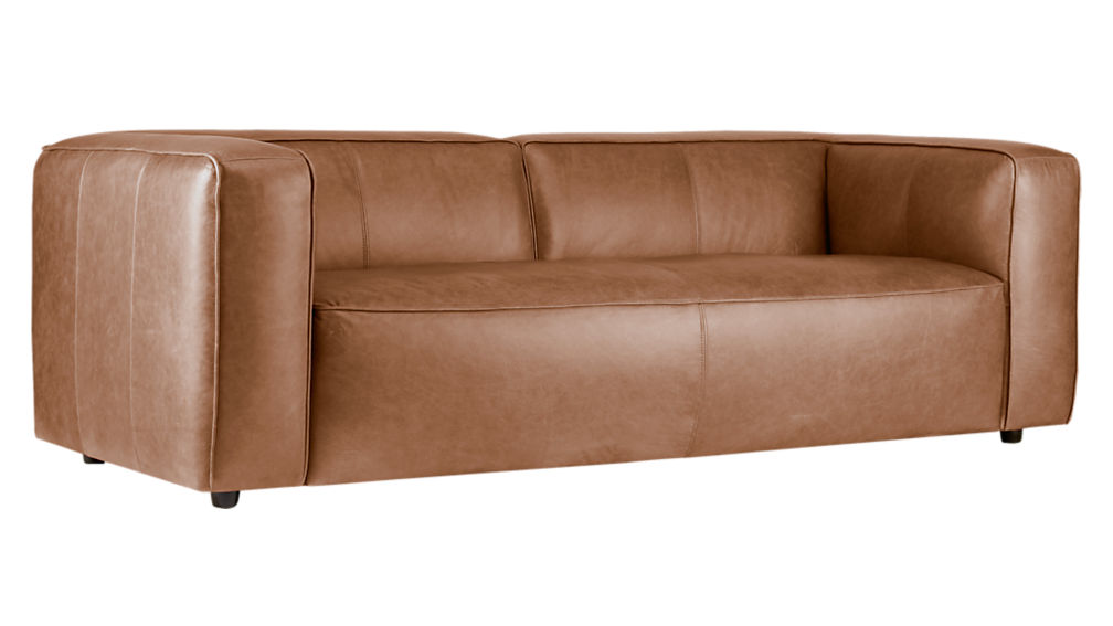 Lenyx Overstuffed Leather Sofa + Reviews | CB2
