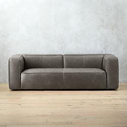 Awesome Lenyx Grey Leather Sofa