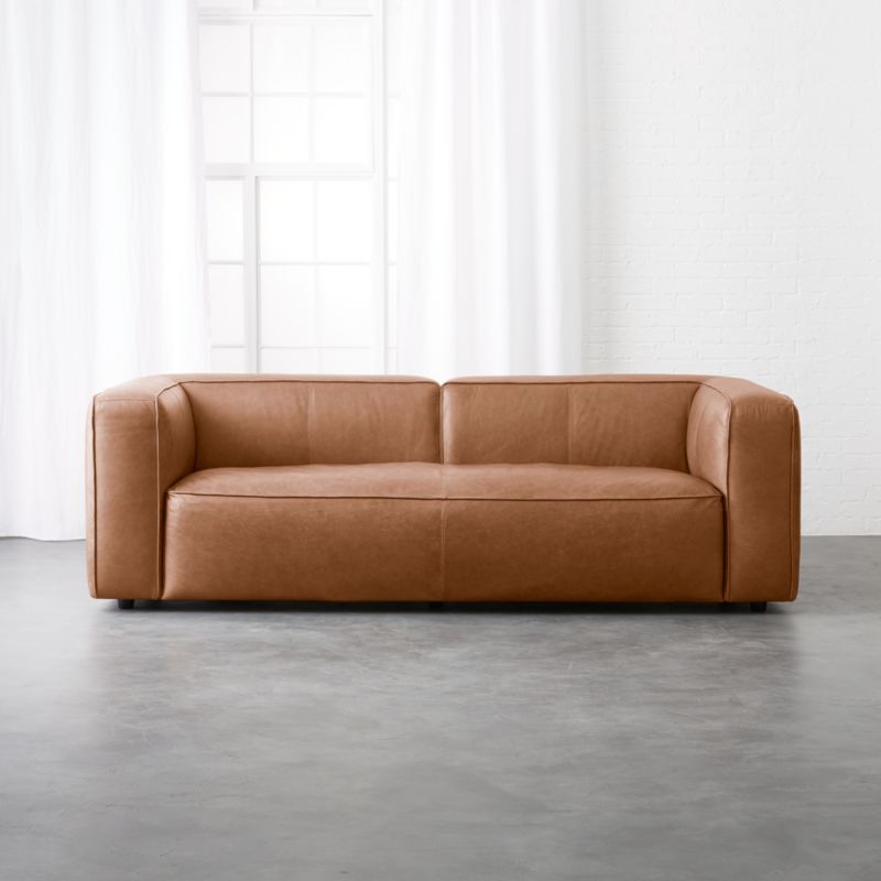 Incroyable Lenyx Cognac Leather Sofa