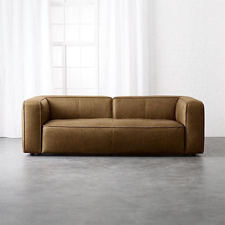 Lenyx Saddle Leather Sofa Reviews Cb2