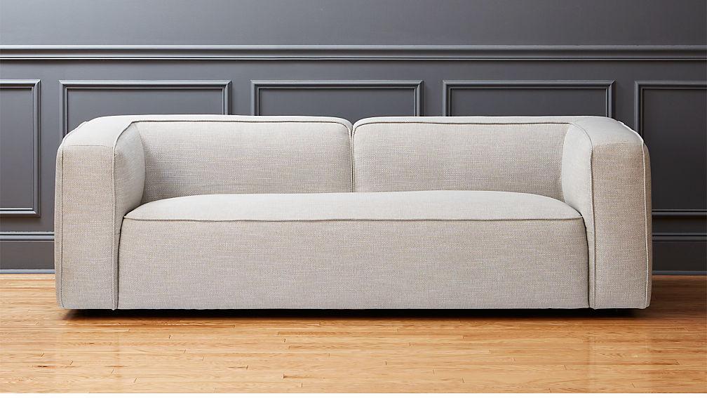 Attirant Lenyx Light Grey Overstuffed Sofa + Reviews | CB2