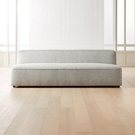 Lenyx Stone Armless Sofa Reviews Cb2