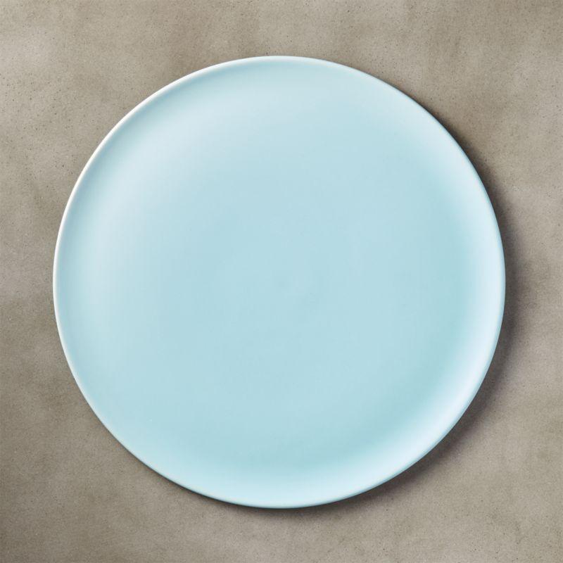 Level Light Blue Dinner Plate Reviews Cb2