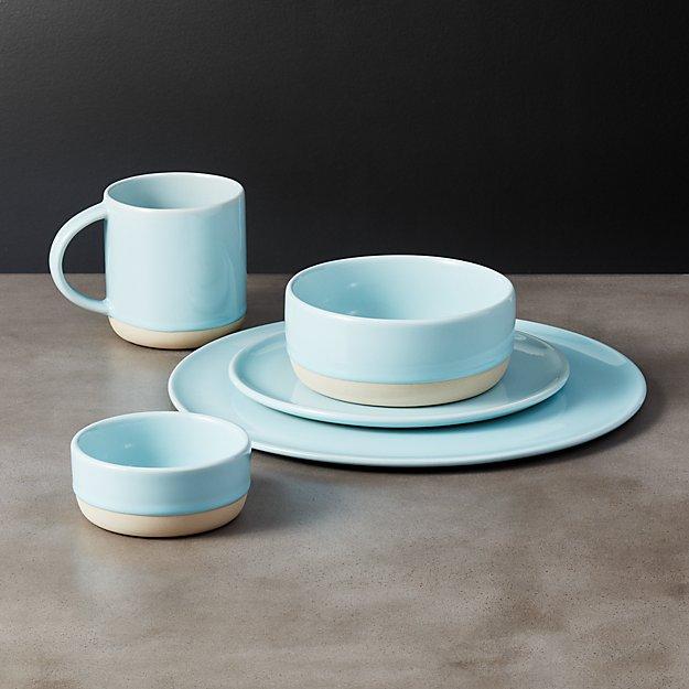 Level Light Blue Dinnerware - Image 1 of 10