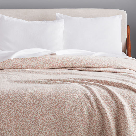 Lex Camel Leopard Blanket
