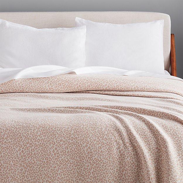 Lex Camel Leopard Blanket - Image 1 of 5