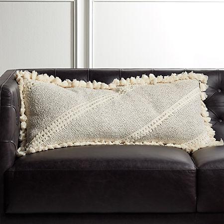Phenomenal 36X16 Liana White Tassel Pillow With Feather Down Insert Reviews Cb2 Frankydiablos Diy Chair Ideas Frankydiabloscom