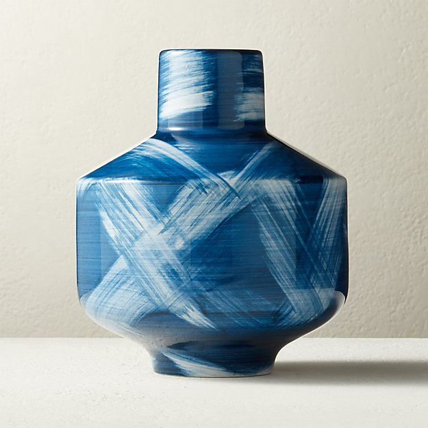 Libra Blue and White Vase - Image 1 of 4
