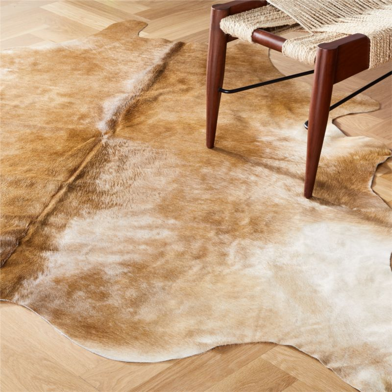 Cowhide Light Brown Rug 5 X8 Reviews Cb2
