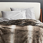 Light Grey Faux Fur Blanket