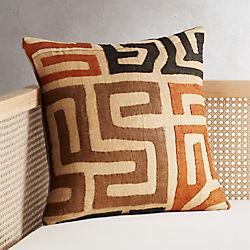 Light Medium Kuba Cloth Pillow