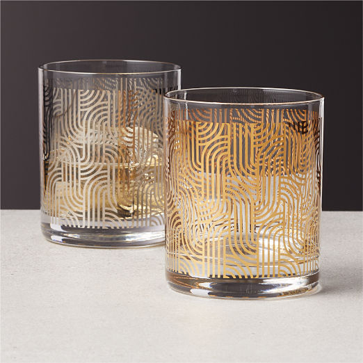 Lindy Metallic Double Old-Fashioned Glasses