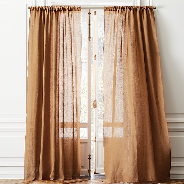 Linen Copper Curtain Panel - Image 1 of 2