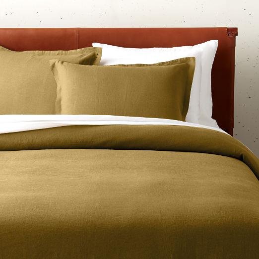 Linen Dijon Duvet Cover