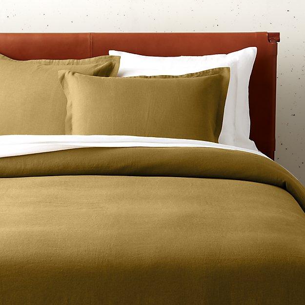 Linen Dijon Bedding - Image 1 of 2