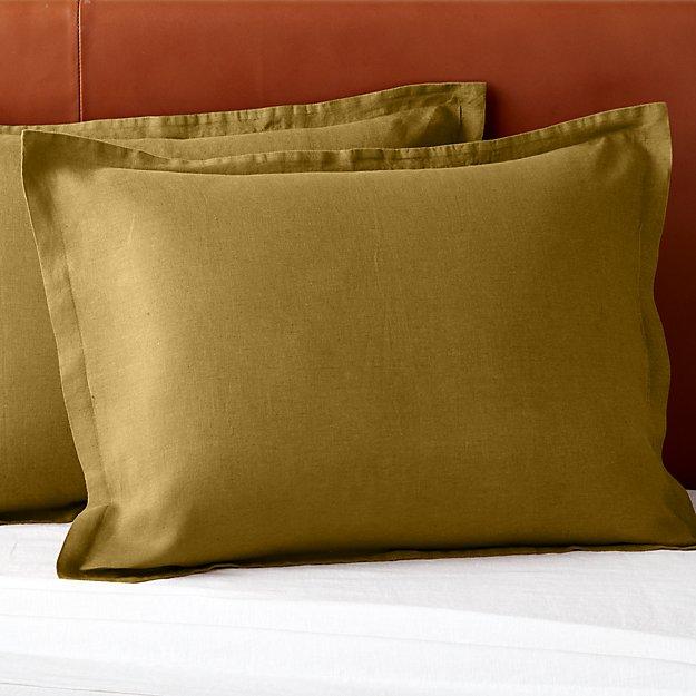 Linen Dijon Standard Shams Set of 2 - Image 1 of 2