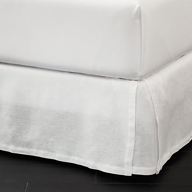 Linen Low Profile Bedskirt Cb2