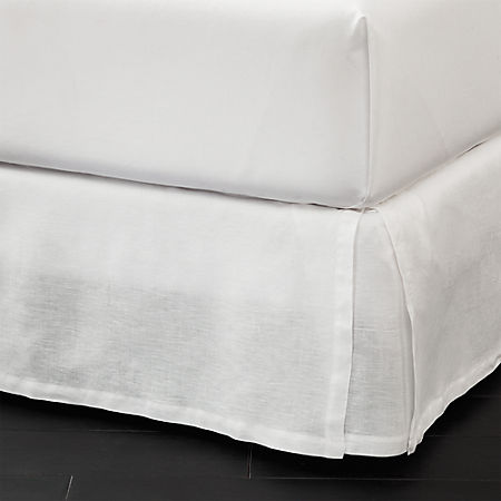Low Profile Bed Skirt.Linen Low Profile King Bedskirt Cb2