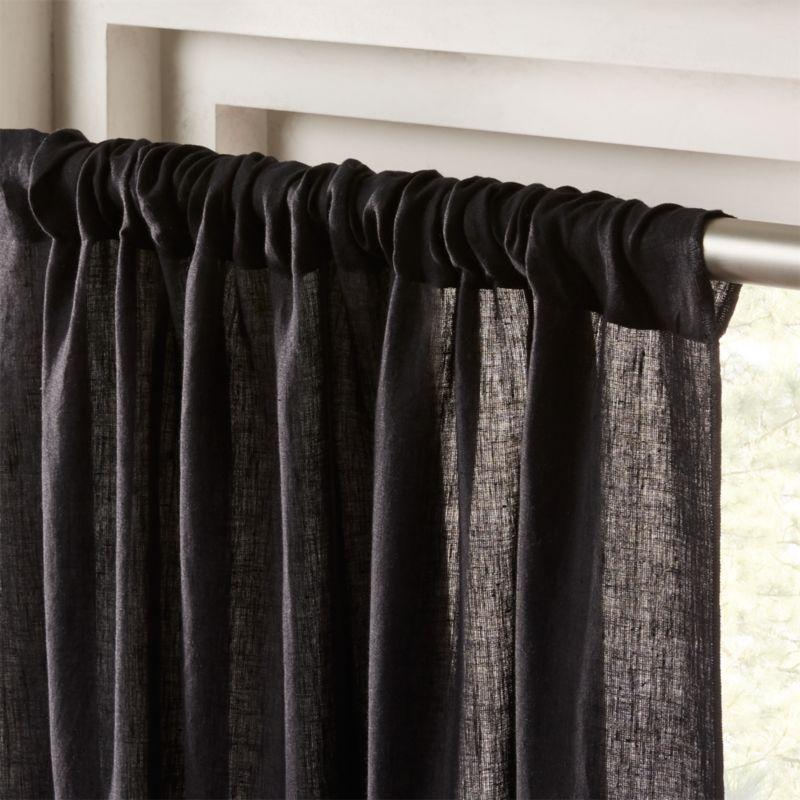 Linen Black Curtain Panel