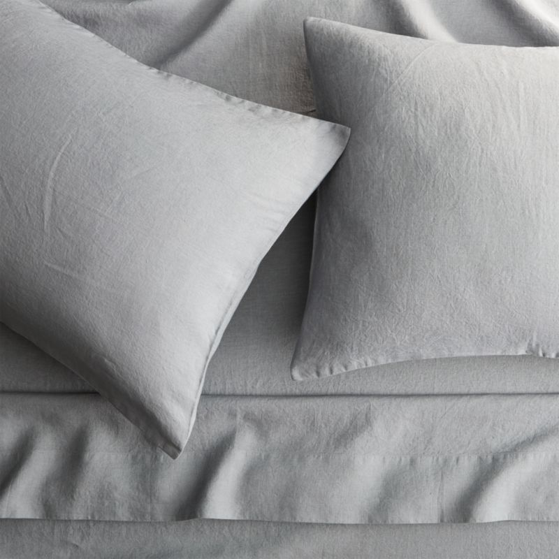 Linen Cement Queen Sheet Set by Crate&Barrel