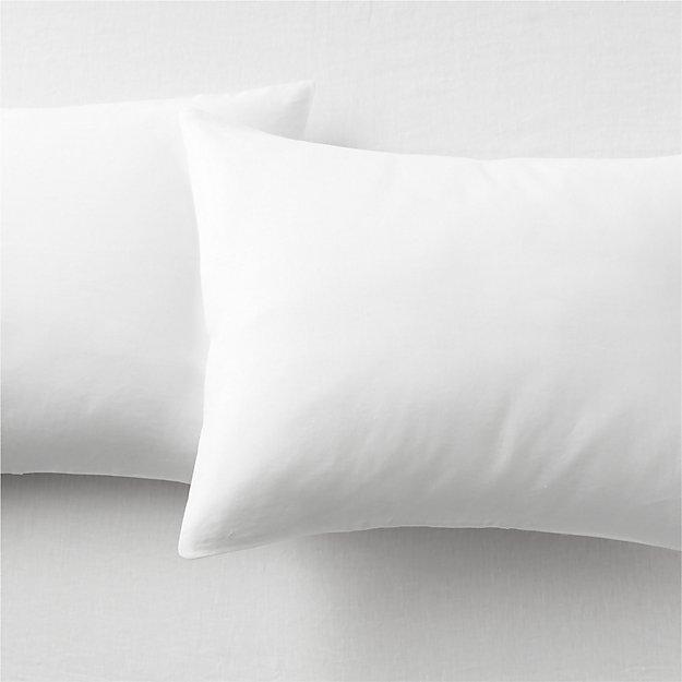 Set of 2 Linen White Standard Pillowcases. - Image 1 of 9