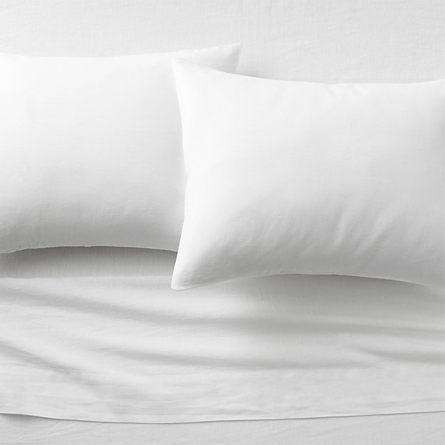 linen white sheet sets cb2