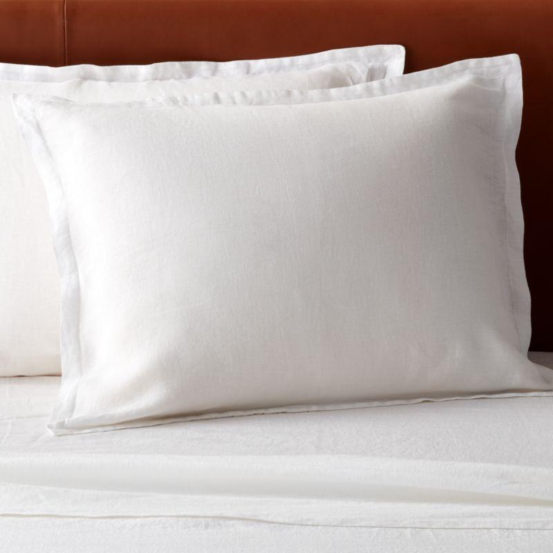 standard pillow shams cb2