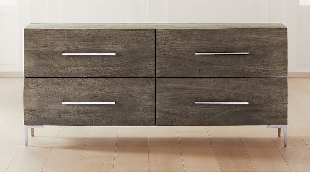 Link Grey Wash Acacia Low Chest - Image 1 of 6