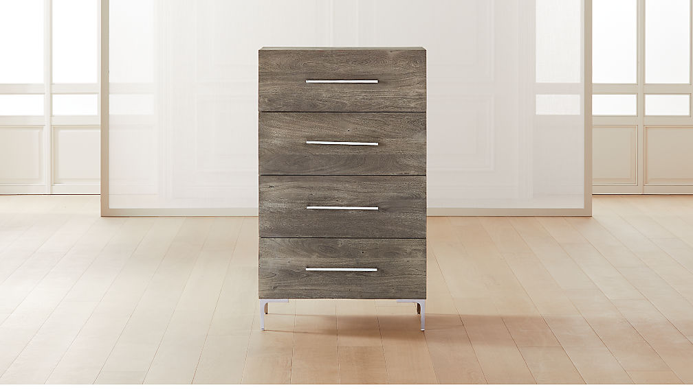 Link Grey Wash Acacia Tall Dresser - Image 1 of 8