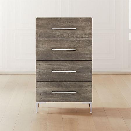 Link Grey Wash Acacia Tall Dresser