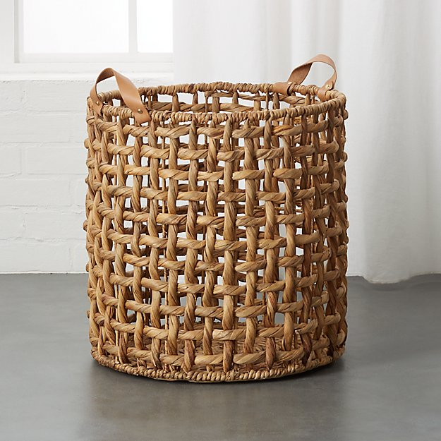Links Large Natural Basket with Handles - Image 1 of 11