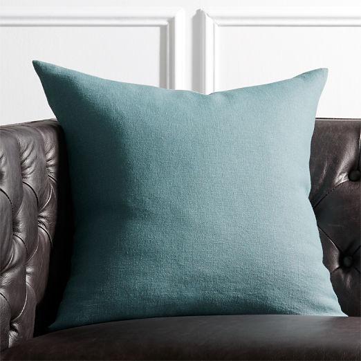 "20"" Linon Arctic Blue Pillow"