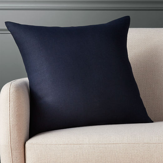 20 Linon Navy Pillow With Down Alternative Insert