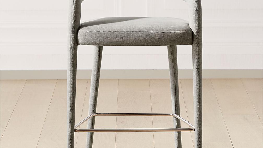 Lisette Grey Counter Stool - Image 1 of 7