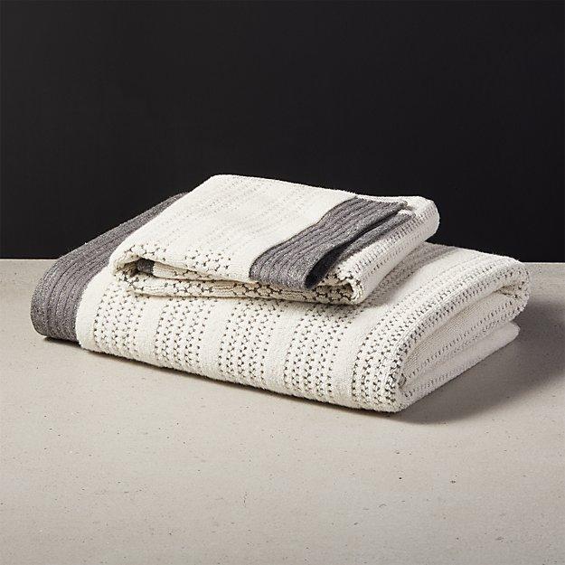 Liv Striped Bath Towels - Image 1 of 10