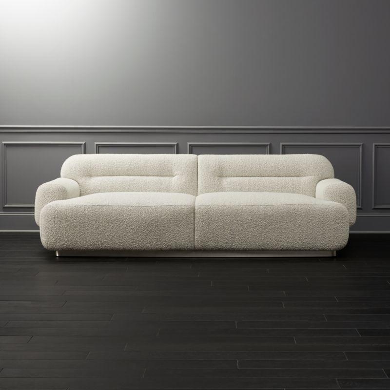 Logan Grey Boucle Sofa
