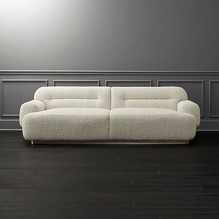 Brilliant Logan Grey Boucle Sofa Gmtry Best Dining Table And Chair Ideas Images Gmtryco
