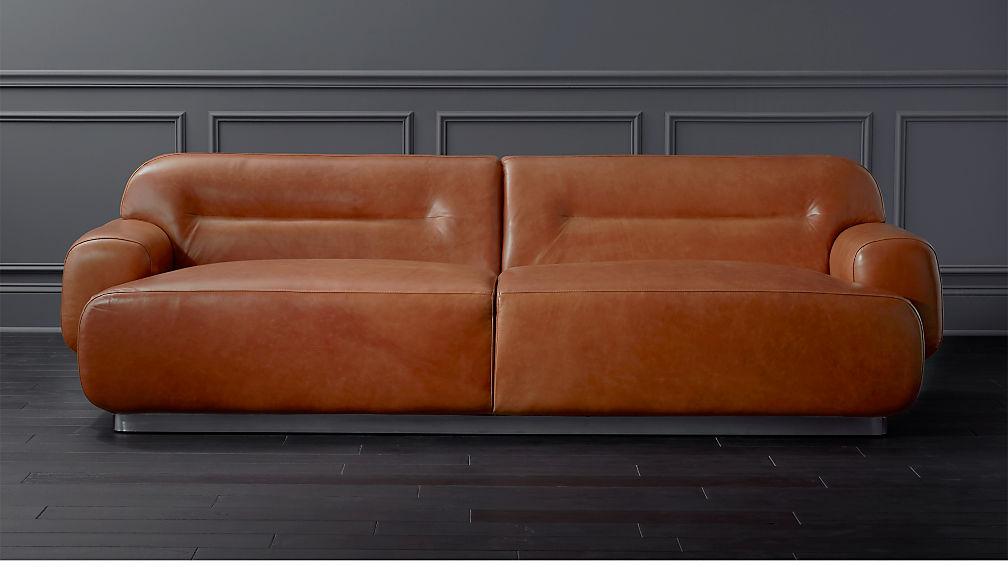 Logan Brown Leather Sofa + Reviews | CB2