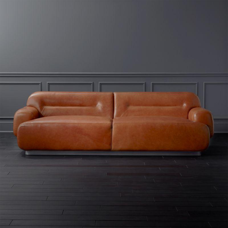 Logan Brown Leather Sofa