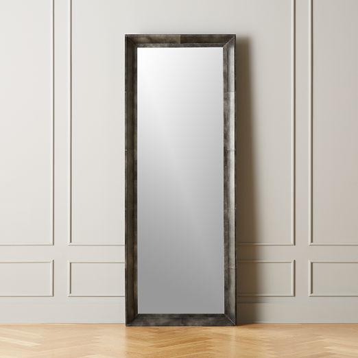 Logan Leather Floor Mirror