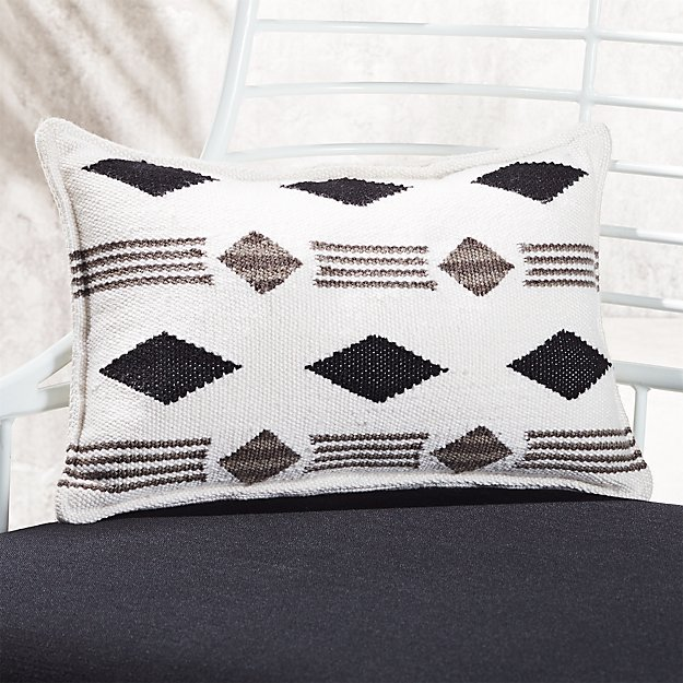 Cb2 Free Shipping >> 20 X12 Loreto Black And White Outdoor Pillow Reviews Cb2