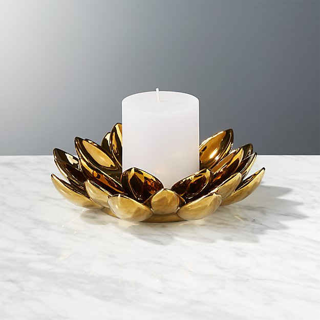 2 Piece Lotus Flower Candle Holder Reviews Cb2