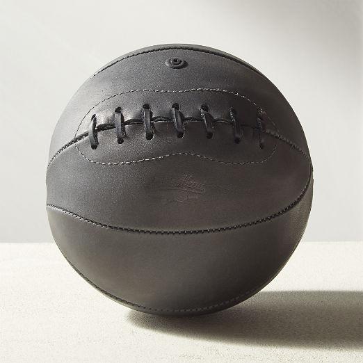 Leather Head Mini Charcoal Leather Basketball