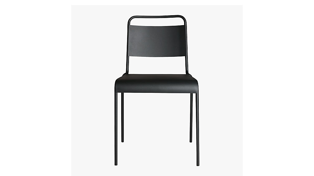 Gentil Lucinda Black Stacking Chair + Reviews | CB2